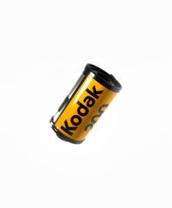 Kodak film canister with Kodak logo on the side