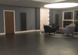 Foyer with Office Partitions Glasgow Installed by ACI Contracts